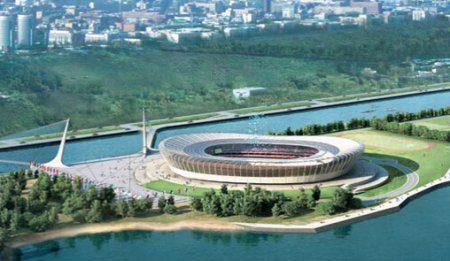 Казанский стадион продолжают активно возводить