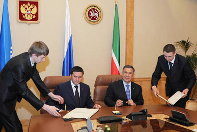 Президент РТ вместе с губернатором ЯНАО подписали договор о сотрудничестве