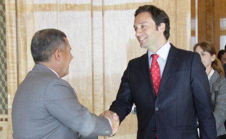 Встреча директора канала Euronews Жильберто Грибадо и Президента Республики Татарстан